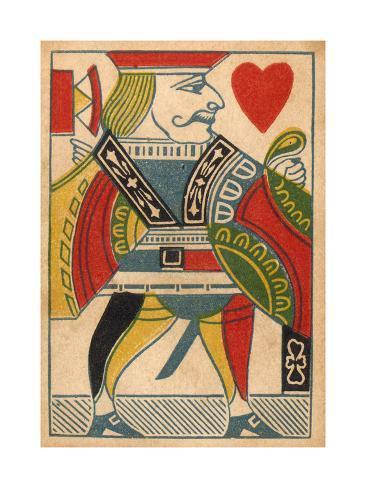 Jack of Hearts Card Art Print