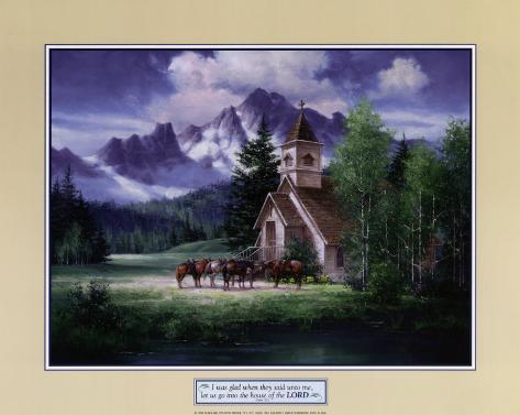 Western Church Art Print