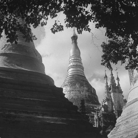 View of a Buddhist Pagoda Photographic Print