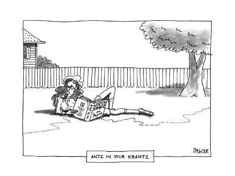 ANTZ IN YOUR KRANTZ - New Yorker Cartoon Premium Giclee Print