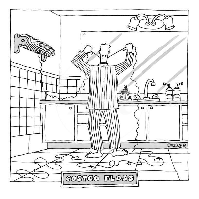 Costco Floss - New Yorker Cartoon Premium Giclee Print by Jack ...