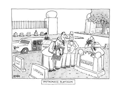 Posthumous Platinum - New Yorker Cartoon Premium Giclee Print