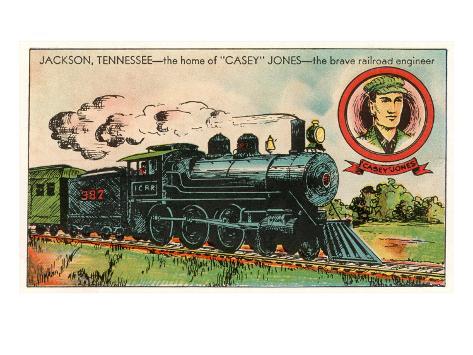Jackson, Tennessee, Home of Casey Jones Art Print