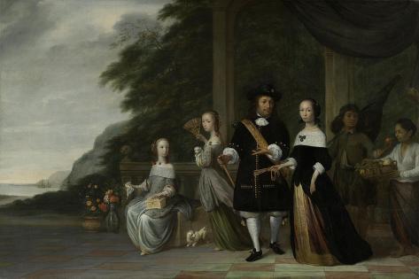 Batavian Senior Merchant Pieter Cnoll and His Family Art Print