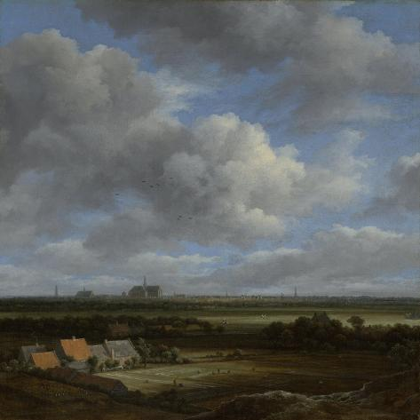 View of Haarlem from the Northwest, with the Bleaching Fields in the Foreground Art Print