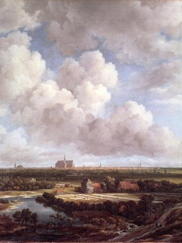 Bleaching Ground in the Countryside Near Haarlem, 1670 Giclee Print