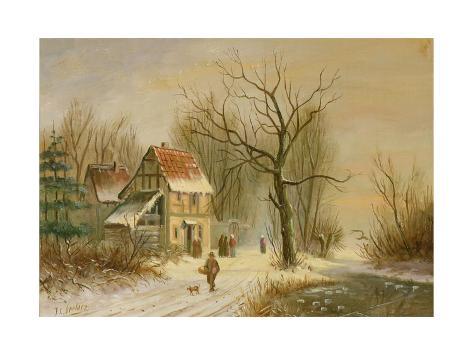Winter Scene Giclee Print