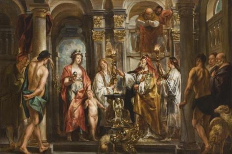 An Oracle (Thetis and Achilles before the Oracle) before 1643 Lámina giclée