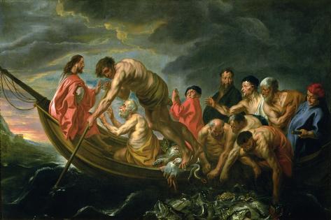 The Miraculous Draught of Fishes, C.1640 Lámina giclée