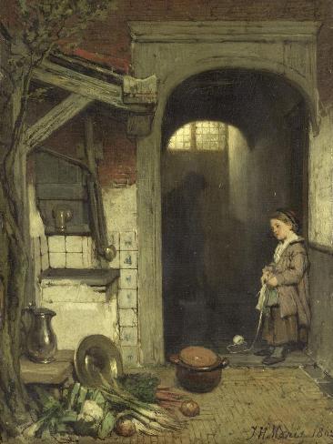 Small Courtyard, Jacob Maris Art Print