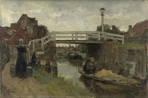 Wooden Bridge in Rijswijk and Loosduinen Premium Giclee Print