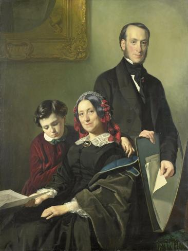 Mevrouw a J Schmidt-Keiser Art Print
