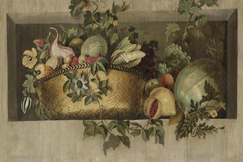 Still Life with Fruit and Flower Garlands Art Print