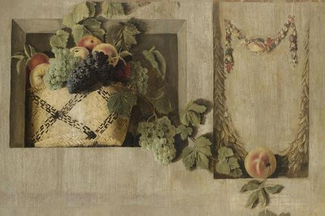 Still Life with Fruit and Flower Garlands Premium Giclee Print