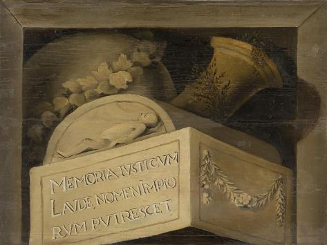 Tomb with Inscription Art Print