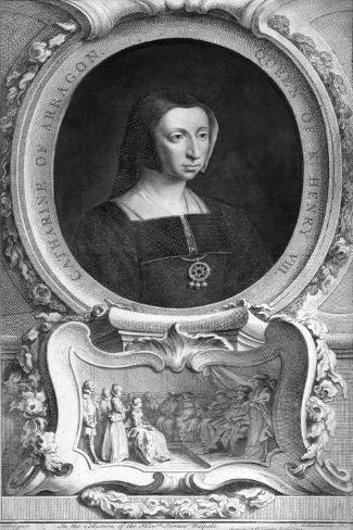 Catherine of Aragon (1485-153), 1744 Lámina giclée