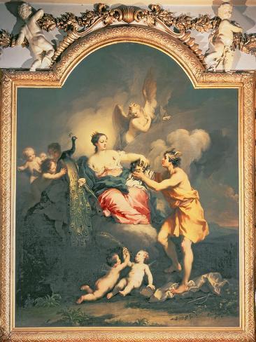 Juno Receives the Head of Argus (Oil) Impressão giclée