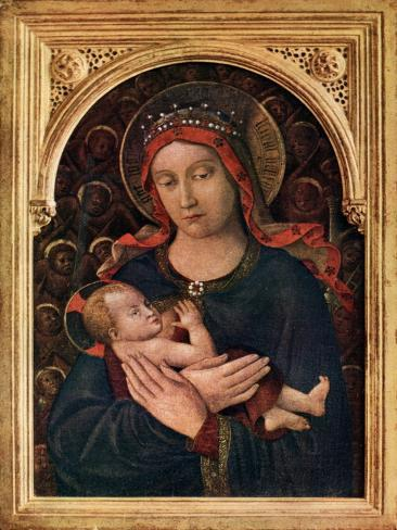 Madonna and Child, 15th Century Lámina giclée