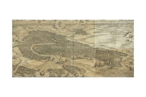 Map Of Venice In Giclee Print By Jacopo De Barbari At - Map of venice 1500