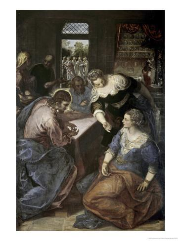 Christ in the House of Mary and Martha Giclee Print