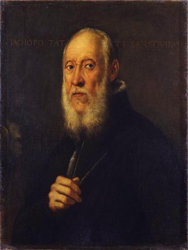 Portrait of the Sculptor Jacopo Sansovino (1486-157) Lámina giclée