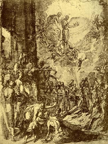 Study for the Martydom of St Stephen, 1913 Lámina giclée