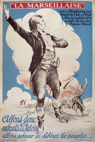 La Marseillaise Stretched Canvas Print