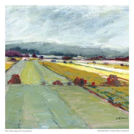 Pastel Landscape VIII Konstprint