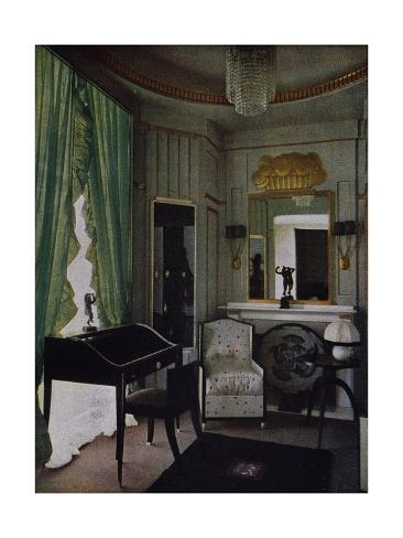 Design for boudoir of hotel du collectionneur giclee print for Boudoir hotel