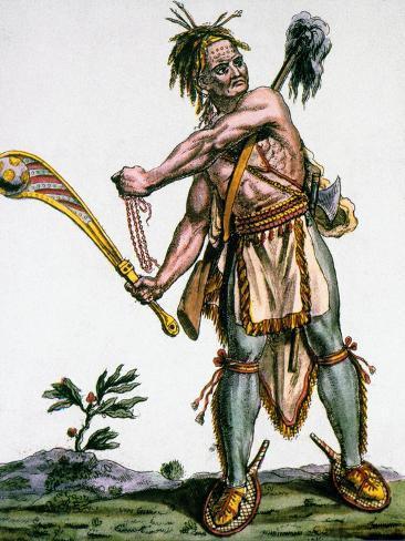 Iroquois Warrior Giclee Print