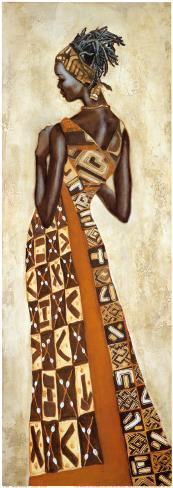 Femme Africaine II Art Print