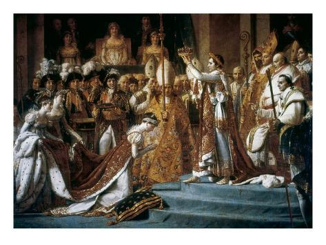 Consecration of the Emperor Napoleon and the Coronation of the Empress Josephine by Pope Pius VII Art Print