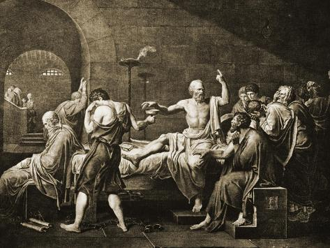 Death of Socrates Giclee Print