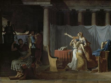 Les Licteurs Rapportent a Brutus les Corps de Ses Giclee Print