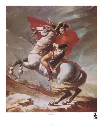 Napoleon Crossing the St. Bernard Pass, c.1801 Art Print