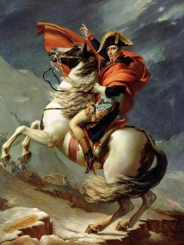 Napoleone al passo del Gran San Bernardo, ca. 1801 Stampa giclée