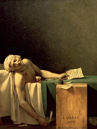 The Death Of Marat 1793 Giclee Print By Jacques Louis
