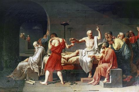 The Death of Socrates, 4th Century Bc Giclee Print