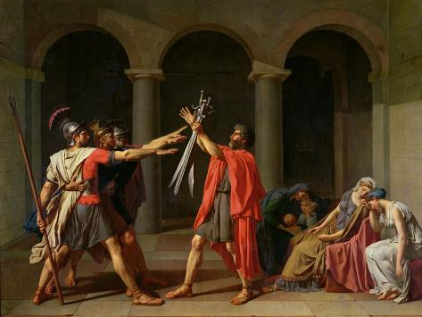 The Oath of Horatii, 1784 Giclee Print