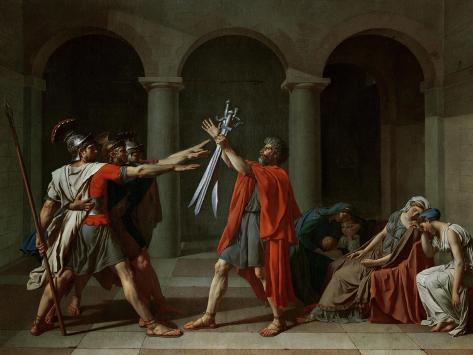 The Oath of the Horatii Giclee Print
