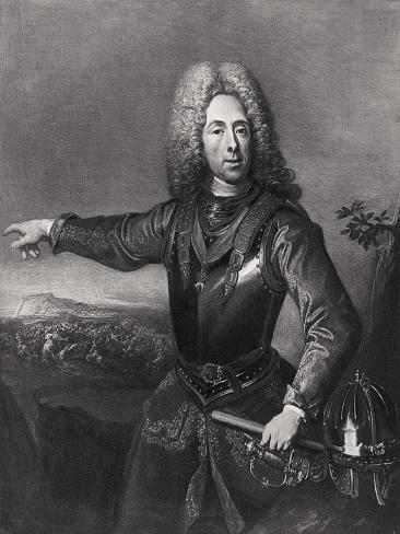 Prince Eugene of Savoy, French-Born Austrian Soldier, 1718 Giclee Print