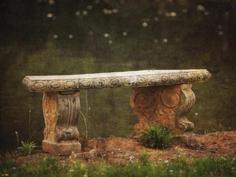 Waterside Bench Giclee Print