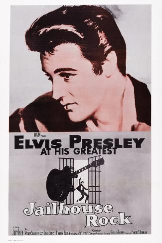 Jailhouse Rock, Elvis Presley, 1957 Art Print