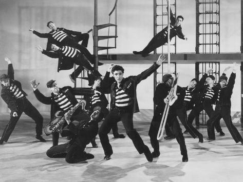 Jailhouse Rock, Elvis Presley (Center), 1957 Photo