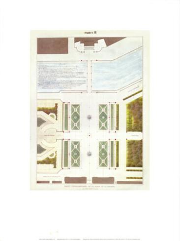 Place de la Concorde Improvement Project with Two Large Fountains Art Print
