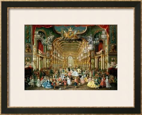 Masked Ball in the Hoftheater, Bonn, 1754 Framed Giclee Print