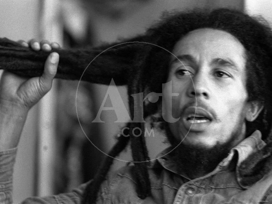 Jamaican Reggae Singer and Song Writer Bob Marley Duing an Interview ...