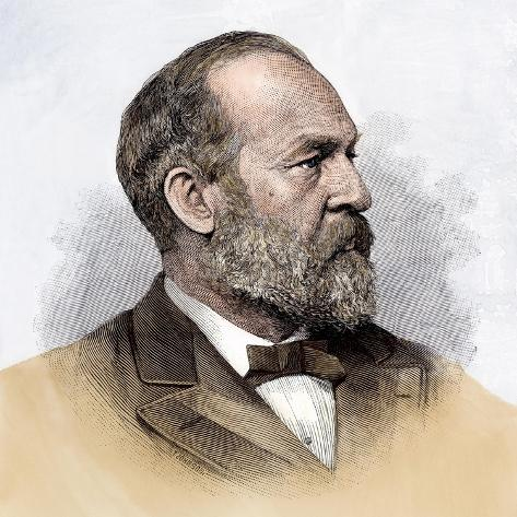 James A. Garfield as President-Elect, 1880 Giclee Print