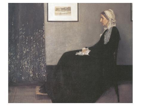 Arrangement In Grey and Black, No.1: Portrait Of The Artist's Mother Premium gicléedruk