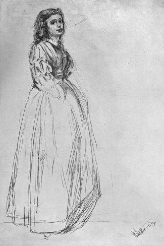 Fumette, Standing' 1859 Lámina giclée